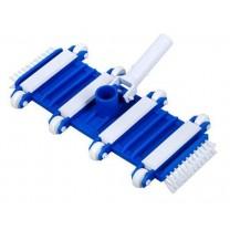 Щетка для пылесоса прямоугольная на колесиках с боковой щетиной