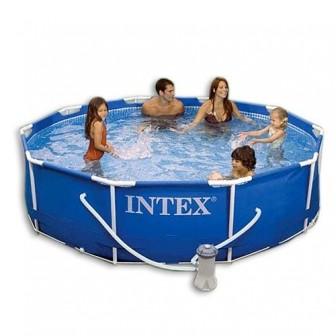 Бассейн каркасный Prism Frame Pool Intex, 366*122 см, светло-серый