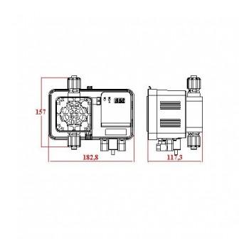 Дозирующий насос Microdos ME1-RX 5 л/ч, 8bar