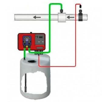 Дозирующий насос Microdos MP1-pH 2,4 л/ч (полный комплект)