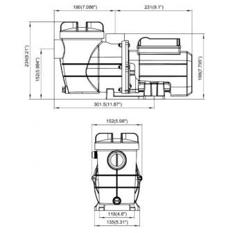 Насос Bridge с таймером, 0,4 кВт, 8 куб.м/час (1 1/2
