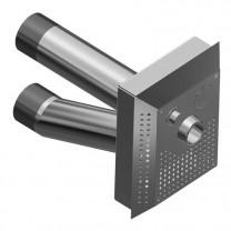 Противоток прямоугольный с 1 форсункой под бетон/лайнер, 300x365 мм
